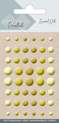 Card Deco Enamel Dots, Yellow (CDEED007)