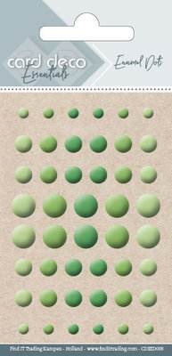 Card Deco Enamel Dots, Green (CDEED008)