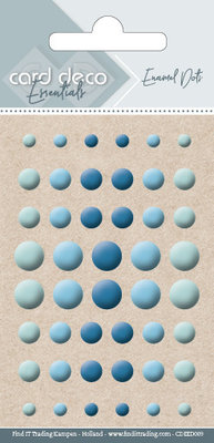 Card Deco Enamel Dots, Blue (CDEED009)