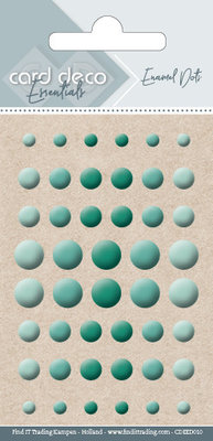 Card Deco Enamel Dots, Teal (CDEED010)