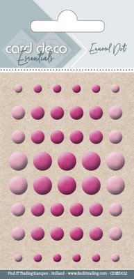 Card Deco Enamel Dots, Bright Pink (CDEED012)