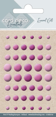 Card Deco Enamel Dots, Pink (CDEED014)