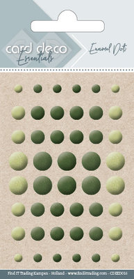Card Deco Enamel Dots, Yellow, Green (CDEED016)