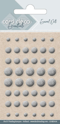 Card Deco Enamel Dots, Silver (CDEED018)