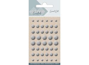 Card Deco Enamel Dots, Silver (CDEED018)