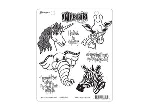 Ranger Dylusions I Believe In Unicorns Cling Stamps (DYR66965)