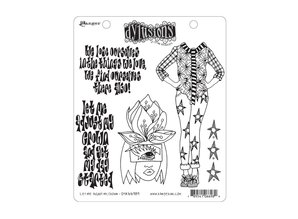 Ranger Dylusions Let Me Adjust My Crown Cling Stamps (DYR66989)