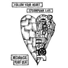 Stamperia Mixed Media Stamps Mechanical Heart (WTKAT04)