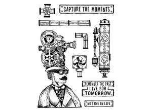 Stamperia Mixed Media Stamps Capture the Moment (WTKAT05)