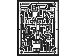 Stamperia Mixed Media Stencil Microchip (KSAT06)