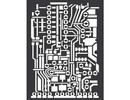 Stamperia Mixed Media Stencil Circuit Board (KSAT07)