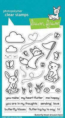 Lawn Fawn Butterfly Kisses Clear Stamps (LF1882)
