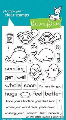 Lawn Fawn Get Well Before 'n Afters Clear Stamps (LF1886)