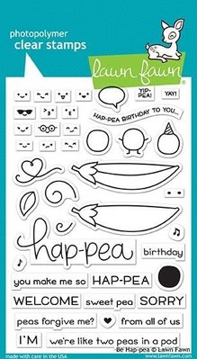 Lawn Fawn Be Hap-pea Clear Stamps (LF1890)
