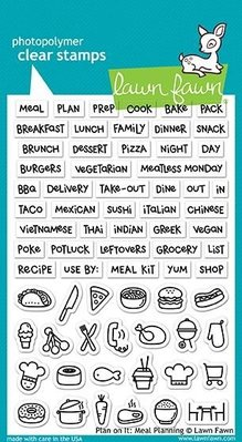 Lawn Fawn Plan On It: Meal Planning Clear Stamps (LF1928)