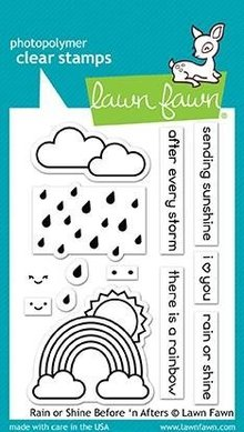 Lawn Fawn Rain or Shine Before 'n Afters Clear Stamps (LF1888)
