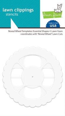 Lawn Fawn Reveal Wheel Templates Essential Shapes Stencils (LF1937)