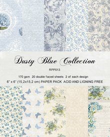 Reprint Dusty Blue 6x6 Inch Collection Pack (RRP013)