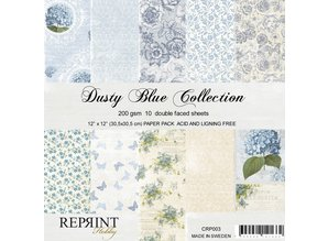Reprint Dusty Blue 12x12 Inch Collection Pack (CRP003)