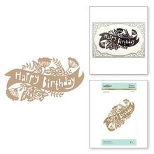 Spellbinders Birthday Banner Hot Foil Plate (GLP-098)