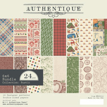 Authentique Rustic 6x6 Inch Paper Pad (RUS010)