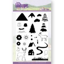 Jeanine's Art Spring Landscape Mountains Clear Stamp Set (JACS10026)