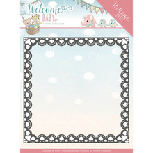 Yvonne Creations Welcome Baby Heart Frame Cutting Die (YCD10153)