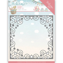 Yvonne Creations Welcome Baby Star Frame Cutting Die (YCD10135)