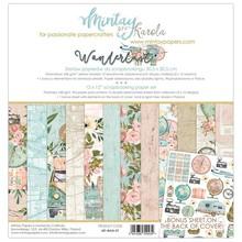 Mintay Wanderlust 12x12 Inch Scrapbooking Paper Set (MT-WAN-07)