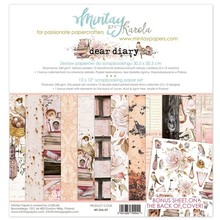 Mintay Dear Diary 12x12 Inch Scrapbooking Paper Set (MT-DIA-07)