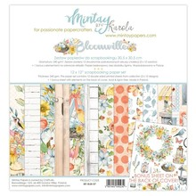 Mintay Bloomville 12x12 Inch Scrapbooking Paper Set (MT-BLM-07)