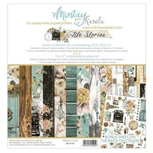Mintay Life Stories 12x12 Inch Scrapbooking Paper Set (MT-LIF-07)