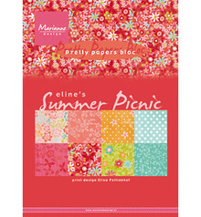 Marianne Design Eline's Summer Picnic A5 Pretty Papers Bloc (PB7056)