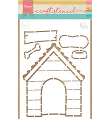 Marianne Design Masking Stencil Doghouse by Marleen (PS8030)