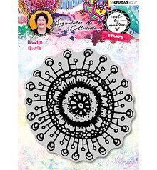 Studio Light Doodle Flower Art By Marlene Cling Stamp (STAMPBM31)