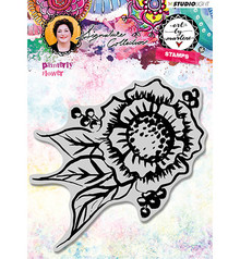 Studio Light Painterly Flower Art By Marlene Cling Stamp (STAMPBM32)