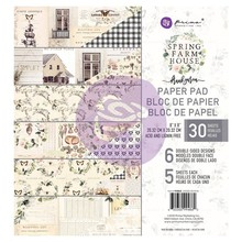 Prima Marketing Inc Spring Farmhouse 8x8 Inch Paper Pad (994860)