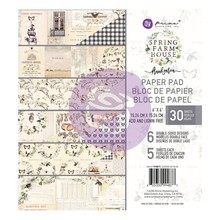 Prima Marketing Inc Spring Farmhouse 6x6 Inch Paper Pad (994877)