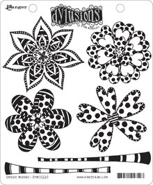 Ranger Dylusions Doodle Blooms Cling Stamps (DYR51220)