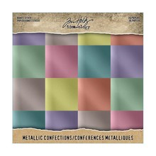 Idea-ology Metallic Confections 8x8 Inch Paper Stash (TH93784)