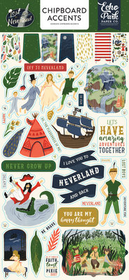 Echo Park Lost in Neverland 6x13 Inch Chipboard Accents (LIN179021)