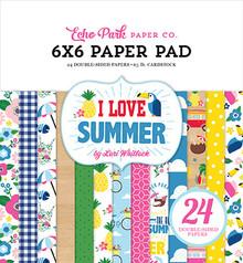 Echo Park I Love Summer 6x6 Inch Paper Pad (SU178023)