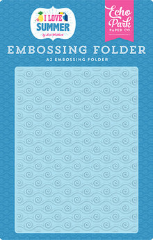 Echo Park I Love Summer Ride the Wave Embossing Folder (SU178031)