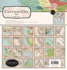Carta Bella Cartography No.1 12x12 Inch Collection Kit (CBCA97016)