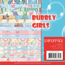 Yvonne Creations Bubbly Girls 6x6 Inch Paper Pack (YCPP10023)