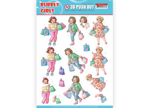 Yvonne Creations 3D Push Out Bubbly Girls Shopping (SB10347)