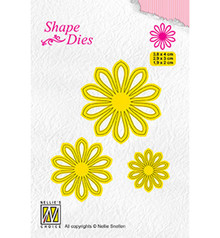 Nellie Snellen Shape Die 3x Flower-5 (SD162)