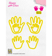 Nellie Snellen Shape Die 3x Baby Hands (SD165)