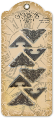 Graphic 45 Ornate Metal Corners (4501810)