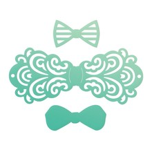 Couture Creations Gentleman's Emporium Filigree Bow Tie Mini Dies (CO726829)